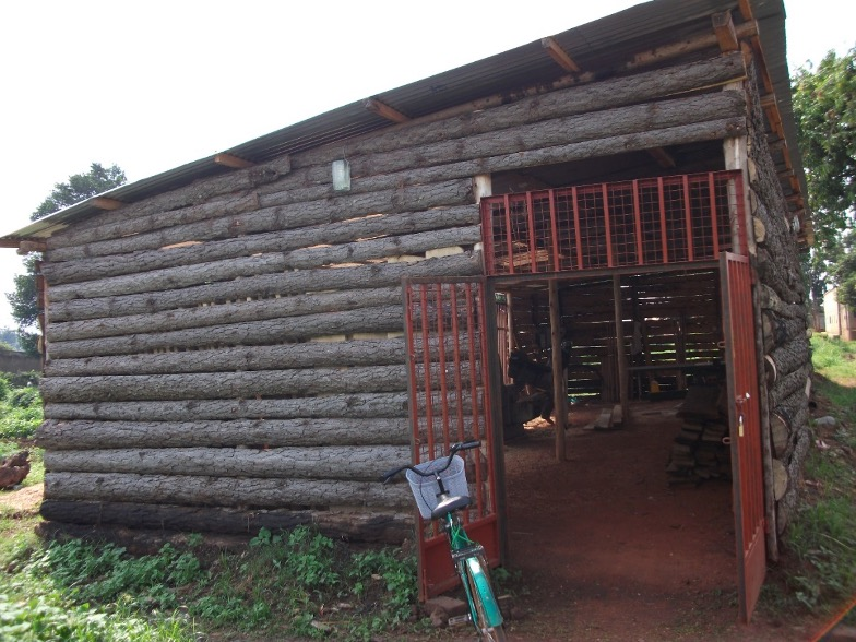 Front view of HIVE Uganda wooden workshop started operation in last week of June 2020 with support from BDMF Fund.