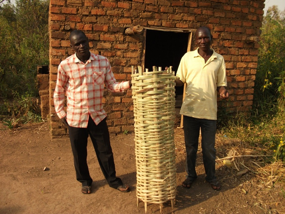 Basket bee hives being made to support new PWDs beginning beekeeping